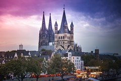 Kln Cityscape (akincansenol) Tags: 500px architecture church travel city cathedral building tower sky no person religion outdoors cityscape town gothic tourism urban cologne kln postcard