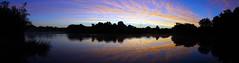 Wild Blue Yonder (Mark BJ) Tags: daisynook countrypark crimelake dawn hollinwoodcanal manchester uk oldham failsworth reflection trees bushes colourful panorama