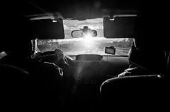 Untitled (Howard Yang Photography) Tags: drive carride passenger windshield sun lensflare bw blackandwhite ricohgr