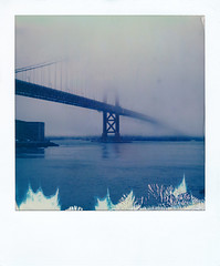 The Golden Gate Bridge 2 (michaelbehlen) Tags: polaroid polaroids insant instantfilm san francisco golden gate bridge fog nature landscape impossiblefilm impossibleproject packfilm slr680 sx70 urban city