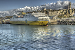 Ferry (sebastienloppin) Tags: dieppe sea mer france hdr hdri picoftheday canon 60d eos 1855 efs landscape beauty like comment photography photo photographer photographe outdoor blue sky bluesky bluesea professional great picture hr hd apsc dslr