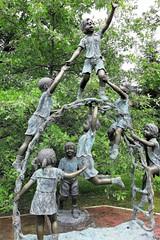 Mountain Lake Park memorial (karma (Karen)) Tags: oakland maryland mountainlakepark garrettco sculpture children memorial cmwd