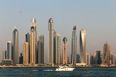 Dubai Marina - Dubai, United Arab Emirates (Dutchflavour) Tags: dubai dubaimarina uae unitedarabemirates skyline skyscraper yacht helicopter water citylandscape cityscape