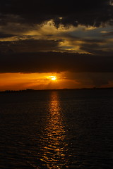 SUNSET (R. D. SMITH) Tags: sunset river clouds sun sundown water florida indianriver melbourneflorida outside evening orange