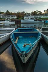 One Oar For A Blue Boat (BrianJacksonNYC) Tags: boat sea ogunquit seashore dusk leica