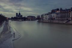 La Seine ... inquitante ... (pourkoiaps) Tags: nikond750 paris france paysageurbain laseine monument cathdrale notredamedeparis