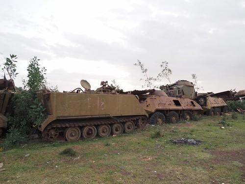 """The """"Tank Graveyard"""" Asmara, Eritrea"""