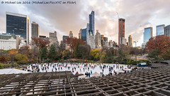 Wollman Rink Sunset (DSC05561) (Michael.Lee.Pics.NYC) Tags: newyork centralpark wollmanrink trump iceskating cityscape architecture sunset 2016 clouds autumn sony a7rm2 voigtlanderheliar15mmf45