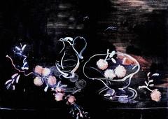 IMG_7556 Andr Derain. 1880-1954. Paris. Nature morte sur fond noir. Still life on black background. 1945. Troyes Muse d'Art Moderne. (jean louis mazieres) Tags: peintres peintures painting muse museum museo andrderain
