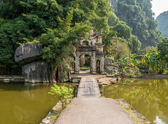 Ninh Binh, Vietnam (Maren 86) Tags: hanoi vietnam asia travel landscape green nature water ancient heritage temple arch lumixg7 microfourthirds