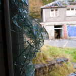 Broken window at Mountain Ash Hospital