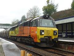 70808 Liskeard (8) (Marky7890) Tags: colasrail class70 70808 6c36 liskeard cornwall train railway