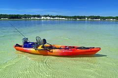 Kayaking on St. Joseph Bay, Florida (Hawkfish) Tags: florida floridapanhandle gulfofmexico stjosephpeninsulastatepark stjoebay stjosephbay canonpowershots100 kayak kayaking sitontopkayak