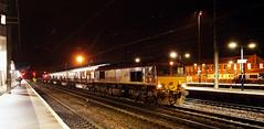 66130 Doncaster 02/12/2016 (Flash_3939) Tags: 66130 class66 diesel locomotive ews dbcargo steel railfreight freight dark night doncaster don station ecml eastcoastmainline sytm rail railway train uk december 2016
