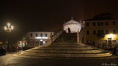 Stairway to heaven (Franco Beccari) Tags: stairway stairs church cathedral chioggia nikon vacation color colour holiday trip travel tourism red yellow green blue black white world europe city photography nikkor d600 nikond600 veneto italy