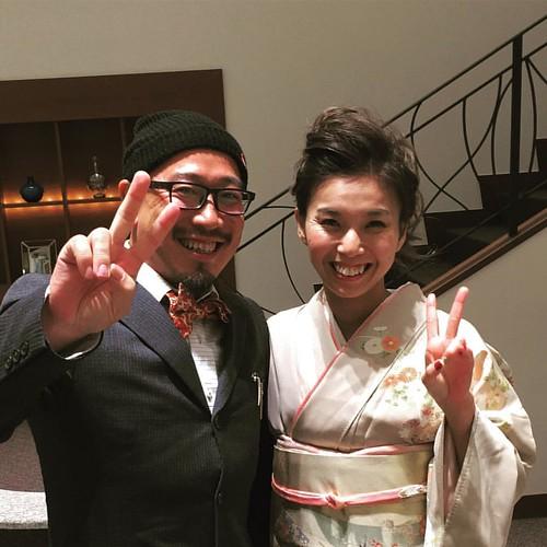 夫婦で結婚式に参加。  幸せのお裾分けをしてもらいました。   #hiroのつぶやき #結婚式 #友人 #スピーチ担当