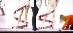 Don't ask / No preguntes. (jaime.tomizawadealmagro) Tags: pink rosa legs piernas crawl gatear soft suave submission sumisin weird raro orange naranja kinky conceptual spiral espiral london uk manikin mannequin woman mujer maniqu lingerie lencera