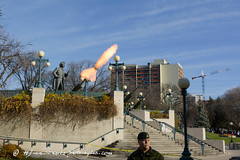 Number one! FIRE! (Photo-Bytes) Tags: 21gunsalute canada legislature manitoba