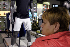 _DSF9407 (Dave Cavanagh Street) Tags: london street londonstreetphotography streetphotography suggestive shorts mannequin model sportsshop sport athletic embarrassed lookaway provoke impose