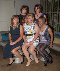 Five Fabulous Femmes! (kaceycd) Tags: crossdress tg tgirl lycra spandex minidress pantyhose pumps peeptoepumps opentoepumps highheels stilettoheels sexypumps stilettos s