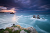 SOME DAY NEAR THE SEA (Jesus Bravo) Tags: sea reef sunset blue liencres long exposure cantabria spain