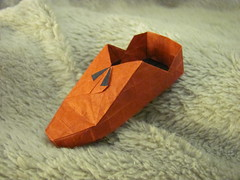 Shoe (A. Ermakov) (Helyades) Tags: origami pli pliage fold carr square papier paper soie tissue ermakov shoe chaussure olympiads olympiades ioio 2016