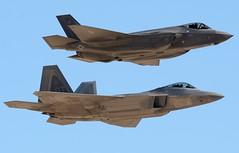 F-22 & F-35 (nick123n) Tags: f22 fighter jet f35 plane aviation aircraft stealth