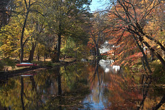 Muted Fall (chantsign) Tags: pastoral cranford newjersey rahwayriver muted fall autumn soft colors water reflection