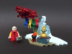 Buddhist Shrine (-Wat-) Tags: lego buddha nepal tibet monk himalaya shrine snow prayerflag