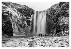 Skogarfoss (chris.lynn) Tags: waterfall waterfalls iceland skogarfoss blackwhite black white nd09 nikon nikon1635f4 leefilters longexposure ice snow winter water