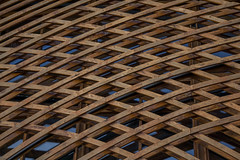Holy_Family_Shrine_Detail_1 (mitchell znamenacek) Tags: architecture nebraska chruch holy family shrine wood truss building photography gretna lattice construction