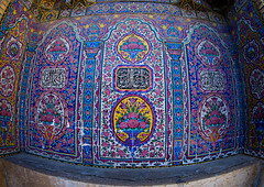 Decorated tile work at nasir ol molk mosque, Fars province, Shiraz, Iran (Eric Lafforgue) Tags: 0people antiquity architecture art beautiful colorimage colorful colours culture decoration design historic horizontal indoors iran iranian islam islamic middleeast mosque mulk mural muslim nasir nasiralmulk nopeople nobody ornate outdoors pattern persia pinkmosque qajarera religious rosesmosque shiraz tile tiled tiles tilework tourism touristic traditional travel traveldestinations worship farsprovince ir