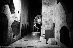 DSCF9698 (Joshua Williams' Photography) Tags: jerusalem israel bw night oldcity