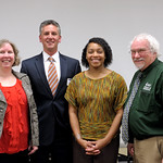 Alumni panelists: (L-R) Susan Keller, The Honorable Robert Villa, Alicia Canario, Gregory Kyrouac