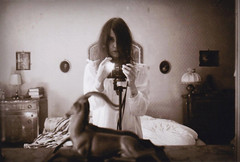 . (SoWiL(d)) Tags: selfportrait bedroom monochrome analog 35mm