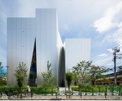 Side view of The Sumida Hokusai Museum (すみだ北斎美術館). (christinayan01) Tags: sanaa kazuyo sejima architecture museum building perspective tokyo japan