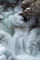 Frozen falls (Canon Queen Rocks (1,130,000 + views)) Tags: ice frozen water waterfall waterfalls nature nationalpark banff banffnationalpark johnstoncanyon rocks icicles alberta canada snow winter frost outdoor december