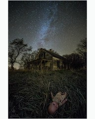 Haunted Memories (HomeGroenPhotography) Tags: uploaded:by=instagram milkyway doll scary horror stars decay leftbehind forgotten lost southdakota aarongroen creepy evil abandonedhouse farm abandoned
