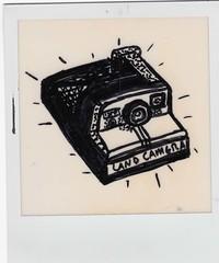 (जुस्तिने) Tags: film polaroid sx70 drawing overexposed polaroidonapolaroid