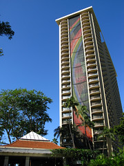 Rainbow Tower (cathrund) Tags: hawaii rainbow waikiki oahu mosaic ceramictile hiltonhawaiianvillage rainbowtower