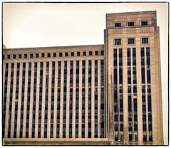 Waiting for A Friend (swanksalot) Tags: windows chicago buildings vanburen usps toned westloop 1921 18mm200mm 42ndward oldchicagomainpostoffice