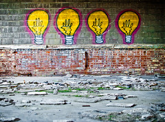 elle. (.:Chelsea Dagger:.) Tags: city ohio building art history abandoned lightbulb bulb graffiti rust peeling paint downtown factory exploring cleveland bricks elle clevelandohio worn tagging dilapidated corroded urbanexploring urbex chelseadagger chelseakaliwhatever cmckeephotography chelseamckee