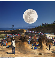 2012 Record the Mazu pilgrimage with supermoon (*dans) Tags: moon temple taiwan fullmoon   wanli  mazu     yeliou    yehliugeopark  supermoon     jinbaolimatsutemple jinbaolicihugongpalace inbaoli jinbaolimatsu    2012506   mazucraze 20120506