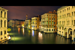 the other side (longyan79) Tags: italien blue venice sky italy night buildings boats lights canal nikon europa europe venedig rialto d90 nikond90 longyan79