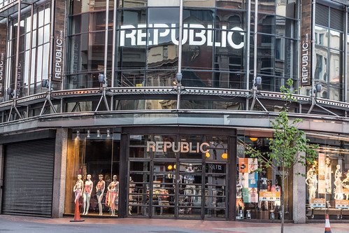 """Republic On The Streets Of Belfast """"Republic the UK's leading branded fashion retailer"""""""