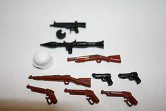 loot (SpontaneousRaptor) Tags: lego rpg shotgun m9 1887 sabr mauser aa12 k98k brickarms kar89k stahlehm kar89