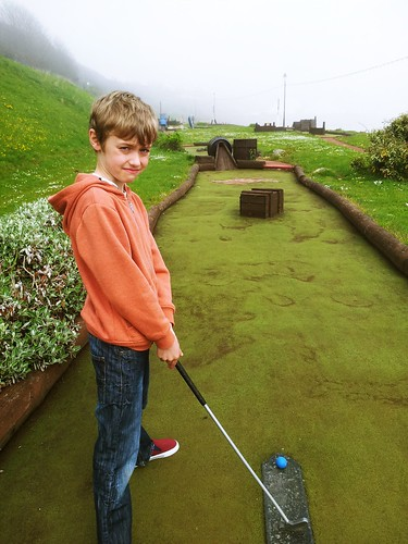 Alfie at the Pirate Crazy Golf