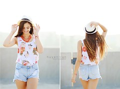 Tatiana (huyen-tran) Tags: portrait rooftop senior girl fashion lens photography prime nikon photoshoot 85mm fedora 85mm18 senioportraits highwaistedshorts d7000