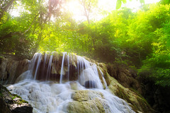 Deep forest Waterfall in Kanchanaburi, Thailand (Patrick Foto :)) Tags: park wood wild vacation plant motion tree green fall nature water pool beautiful rock creek forest woodland wonderful river relax landscape thailand waterfall leaf spring amazing cool stream heaven paradise natural scenic fresh clean foliage fluid jungle tropical flowing cascade emerald current kanchanaburi freshness tier torrent cataract erawan waterscape purity thakradan