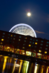 Albert Dock #2 (fugjostle) Tags: moon night liverpool canon steveriley albertdocks ef2470mm fugjostle